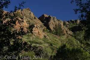 Rocks above trail