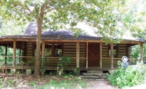 Edith L Moore cabin - wheelchair accessible from the other side.© Houston Audubon Society