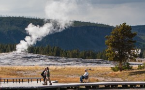 Visitors Yellowstone National Park