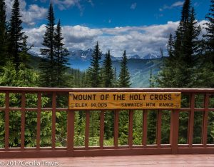 View from the accessible Julia's Deck near Shrine Pass, Colorado